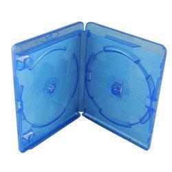 10 Custodie BD-R Blu Ray DOPPIE 12,5mm con tasca...
