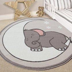 Tappeto per bambini, motivo elefante, luna e...