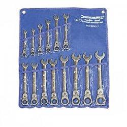 Silverline 399017 - Set chiavi a cricchetto, con...