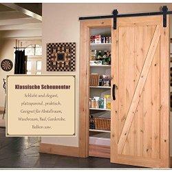 183cm porta scorrevole Door Hardware Kit Nero per...