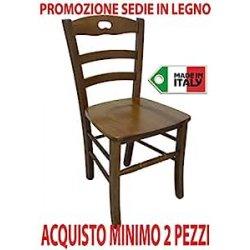 Ordine min. 2 pz sedia poltrona paesana in legno...