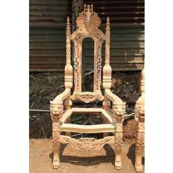 RAW Unpainted Lion King Gothic THRONE CHAIR for...