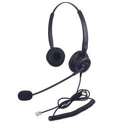 Xintronics Cuffie Telefono Fisso Binaurale RJ9...