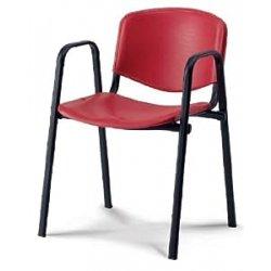Sedia In Plastica Casa // Ufficio // Attesa // Scuola // Bar ISO POINT A Blu KARISMA