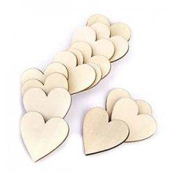 VORCOOL Cuori di legno, cuore di legno fette...