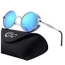 CGID E71 Occhiali da Sole da Uomo Retro Stile...
