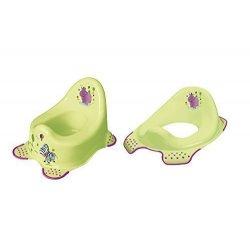 Vasino + alzata WC Hippo verde Scaletta per WC