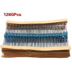 SODIAL (R) 1280pcs 64 Valori (1R ~ 10MR) Ohm 1 /...