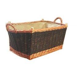 Grande cesto porta legna per, legno cestino,...