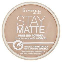 Rimmel Stay Matte, Cipria compatta - Silky Beige