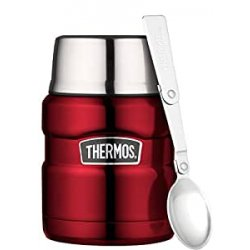 Thermos 0.47 Litre Stainless King Food Flask, Red...