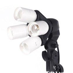 Andoer 4 in 1 E27 Base Socket luce Lamp Bulb...