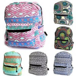 Small Backpack - Fabric Rucksack Bag Picnic...