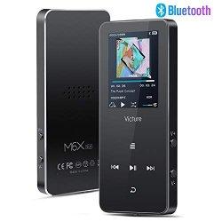Victure Lettore MP3 16GB Bluetooth 4.1 Pulsante...