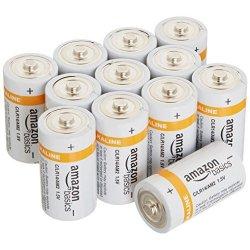 AmazonBasics - Pile Alcaline C, confezione da 12