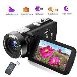 Videocamera Videocamere Full HD 18X Digital Zoom...