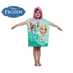 WD16952 Accappatoio poncho in cotone Elsa Frozen...