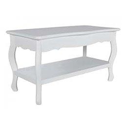 Tavolino salotto tavolino quadrato con 2 ripiani...