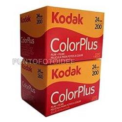2 Rullini Kodak Color Plus 35mm 200/24 - Conf. da...