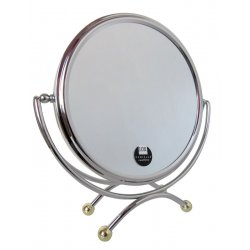 Chrome & Gold - 2 Sided Table Mirror 10 x...
