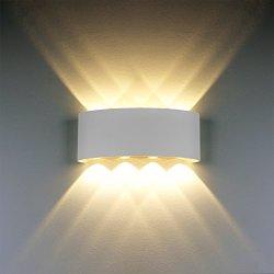 Lampada da parete, moderno 8W LED applique in...