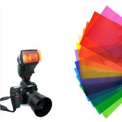Kaavie - 12 x Farbfolien (Gels) Filter Set mit...