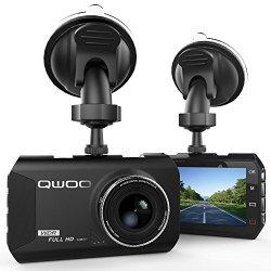 Dash Cam, Qwoo Telecamera per Auto 3