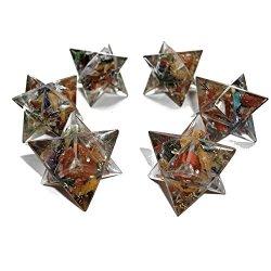 Orgonite Merkaba stella 7 Chakra, con cristalli...