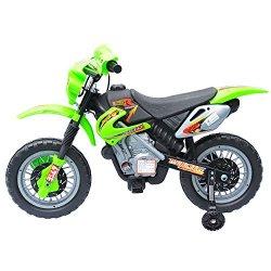 Outsunny - Moto elettrica per bambini - Verde