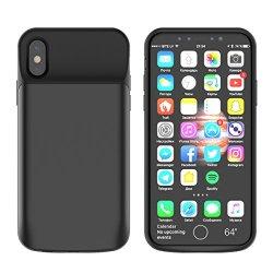BasicStock Custodia Batteria iPhone X/XS, 6000mAh...