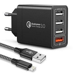 JOOMFEEN Quick Charger 3.0 Caricatore USB da...