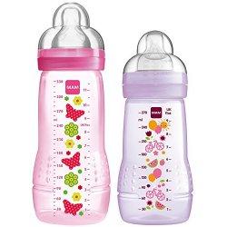 MAM, Set di biberon, 270 ml e 330 ml, Rosa (rosa...