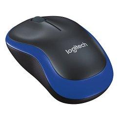 Logitech M185 Mouse Wireless, Nero/Blu