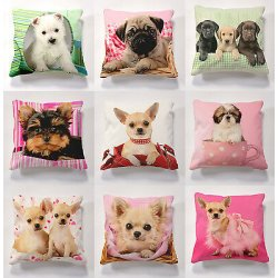 Printed cushions with cushion pad for indoors or...