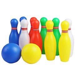 Birilli Bowling Set Colorato Palla da Bowling...