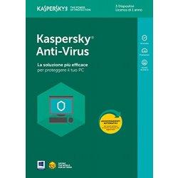 Kaspersky Anti-Virus 2018 3 Utenti | 1 Anno