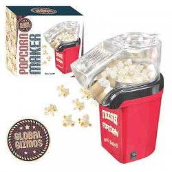 Red Fresh Popcorn Maker Electric Hot Air Fat Free...