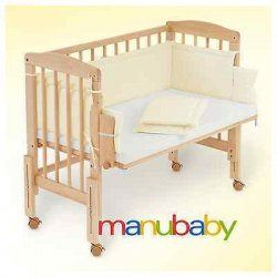 Culla Co-Sleeping da affiancare al letto legno +...