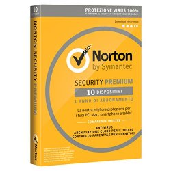 Norton Security Premium 2018 - 10 dispositivi, 1...