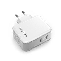 Caricatore USB RAVPower Caricabatterie da Muro a...