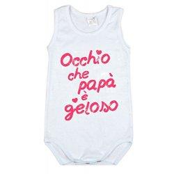BabyVip - Body Bimbo Bimba Neonato Neonata Spalla...