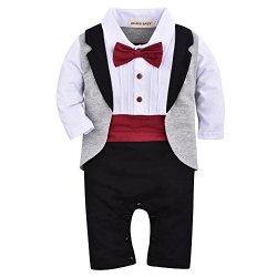 ZOEREA un-parti dei neonati pagliaccetto Tuxedo...