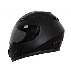 ATO Fighter - Casco per moto, colore nero opaco,...