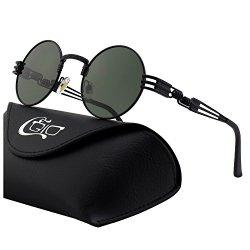 CGID E73 Occhiali da Sole da Uomo Retro Stile...
