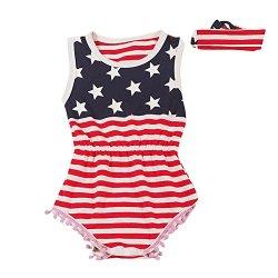 Le SSara Neonato American Flag pagliaccetto...