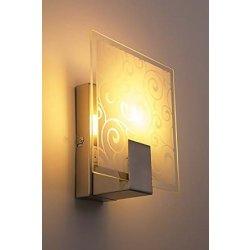 Lampada da Parete Applique in Metallo Spazzolato...