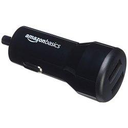 AmazonBasics - Caricabatterie per auto 4.8 A/24 W...