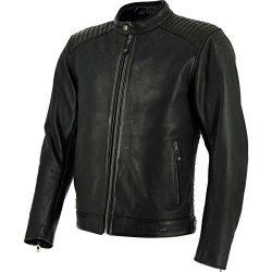 Richa Thruxton moto giacca in pelle, Black