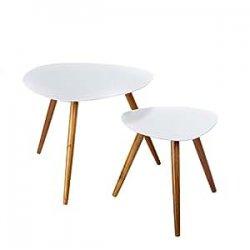 Set di 2 tavolini sovrapponibili, perfetti in...