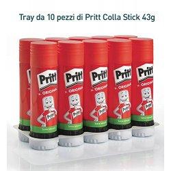 Pritt Colla Stick 10 x 43g, colla per bambini...